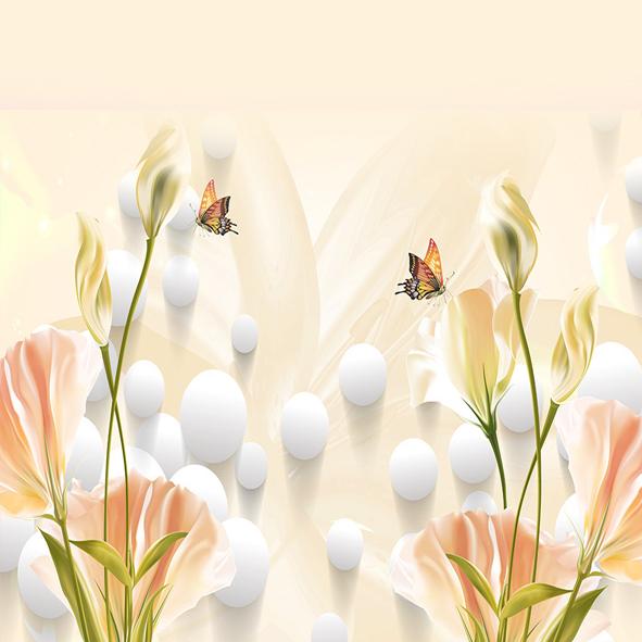 Tranh dán tường hoa 3d
