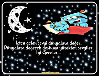 resimli iyi geceler mesajı