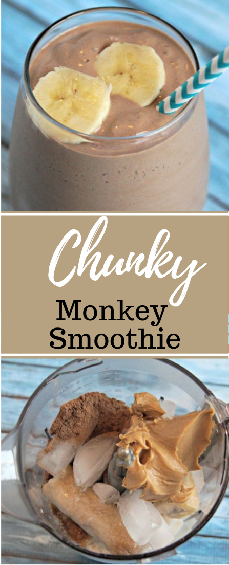 CHUNKY MONKEY SMOOTHIE RECIPE #drink
