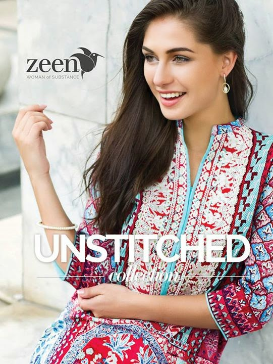 269a3ee88bb1 Zeen Unstitched Collection 2015 For Women