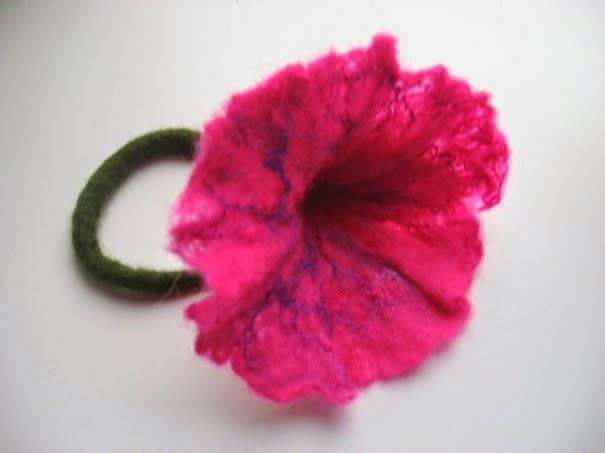 bloem vilten bij Atelier de Vier Jaargetijden