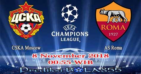 Prediksi Bola855 CSKA Moscow vs AS Roma 8 November 2018