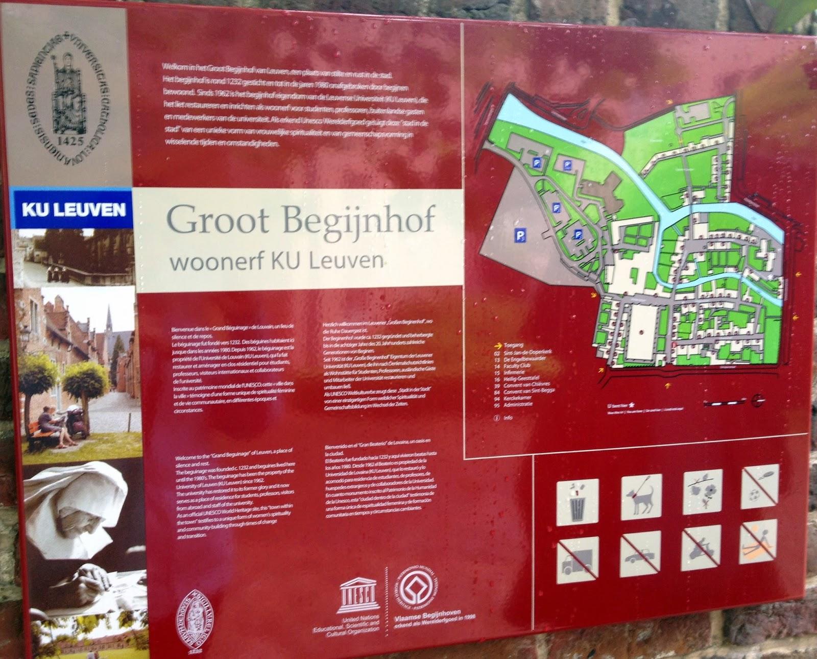mapa Beginjhof Leuven
