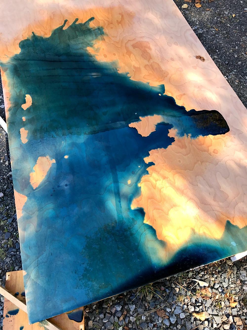 Keda Wood Stain Blue