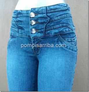 Jeans de mezclilla, pantalon para dama barato de mayoréo klass cinturilla Ninel Conde