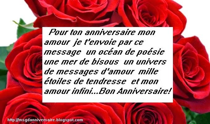 texte romantique pour anniversaire de couple