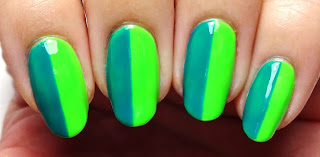 Green and Teal Nails