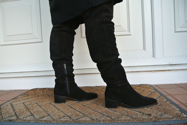 Plus size friendly thigh high boots from asos