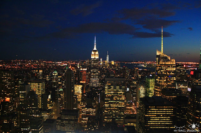 My Travel Background : vue sur l'Empire State Building depuis le Top fo the Rock, New York