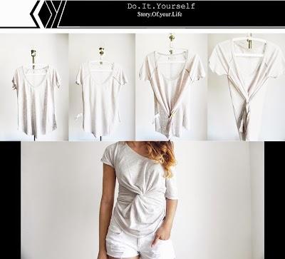Camiseta con giro en la cintura