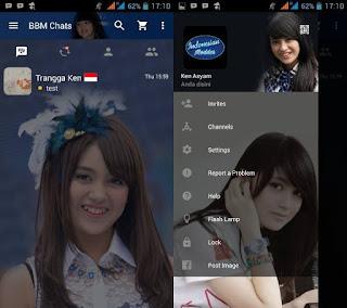 BBM Nabila JKT48 versi terbaru 2.11.0.16 Apk