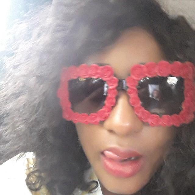 beb5090fb8 Nollywood by Mindspace  INI EDO ROCKS DOLCE   GABANNA ROSES SUNGLASSES