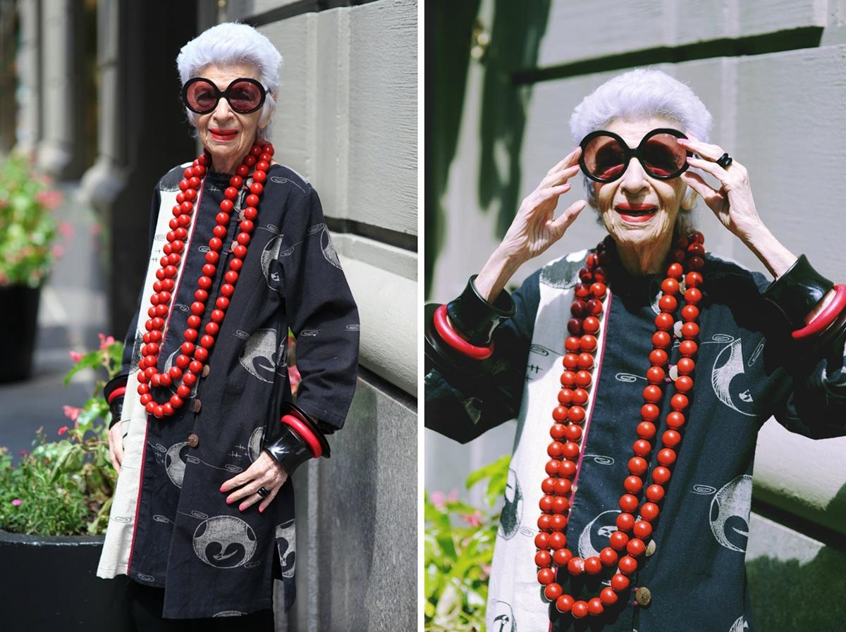 Alter, sehen die toll aus...! Iris Apfel, 94 years, style icon