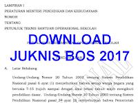 Download JUKNIS BOS 2017 SD SMP SMA SMK Kemenag