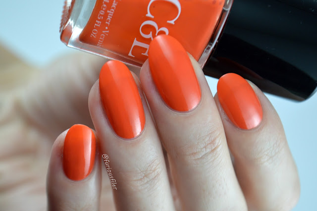 Crabtree & Evelyn C&E Mandarine clementine orange swatch shimmer