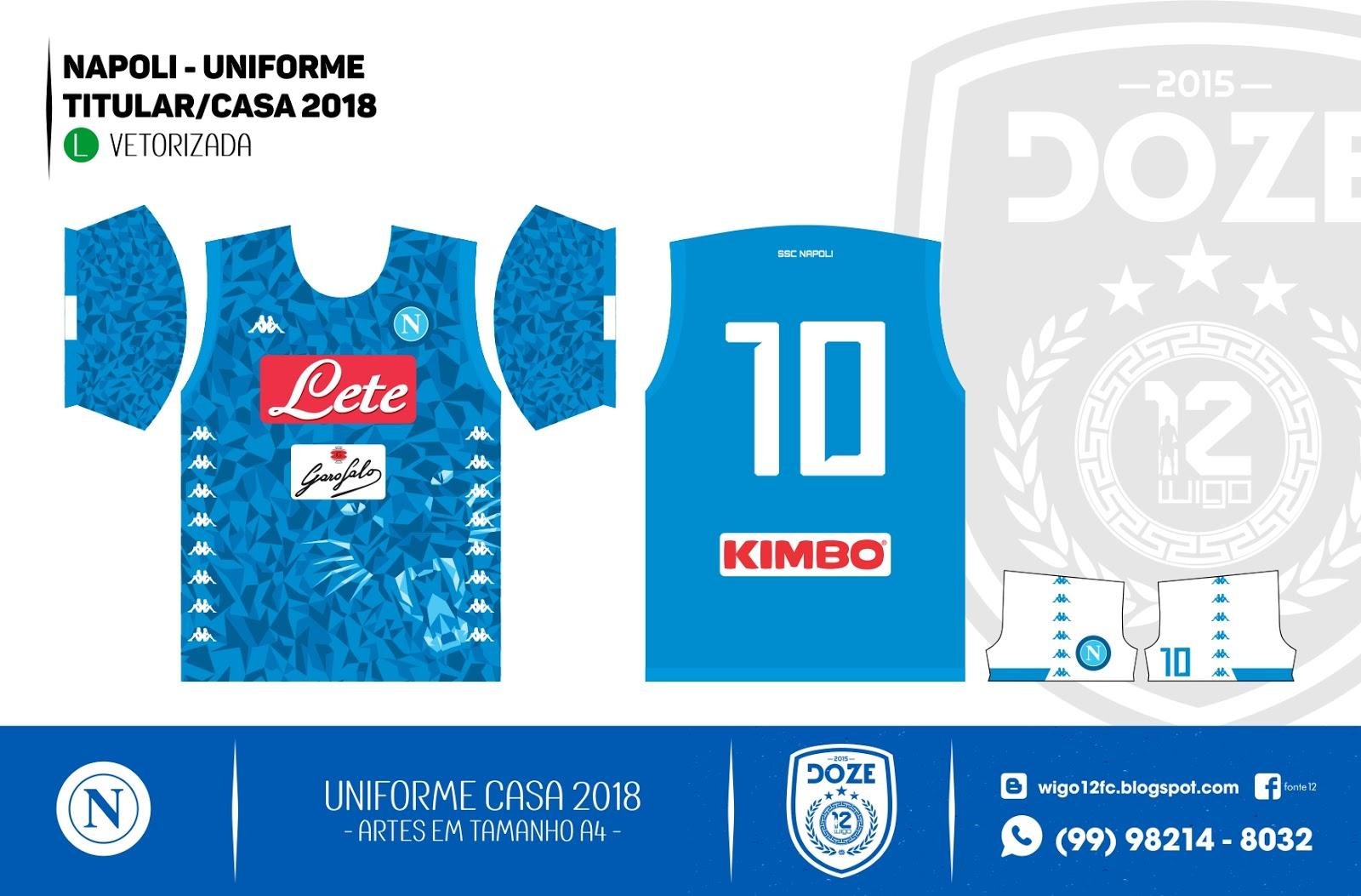a1f8e658a7d28 Camisas de Futebol  Napoli 2018