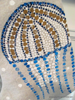 jellyfish coastal Christmas stocking