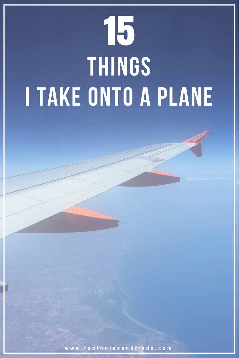 15 things I take onto a Plane