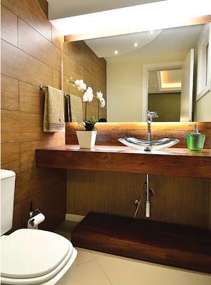 Bancadas de Banheiro de Madeira de Demolição