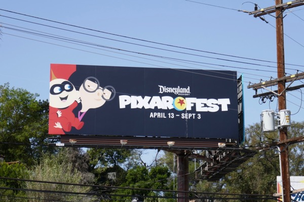 Incredibles Pixar Fest Disneyland billboard