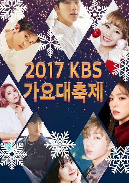 KBS menampilkan acara hiburan yang dibintangi oleh artis KPOP di akhir tahun  KBS Song Festival (KBS Gayo Daechukje) 2017