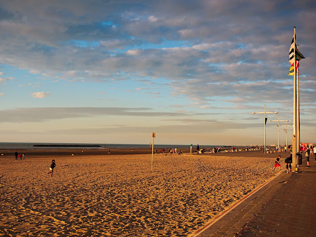 Dünkirchen Häuser Promenade Strand
