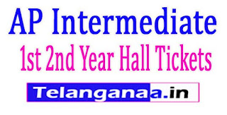 AP Inter 1st 2nd Year Hall Tickets 2017