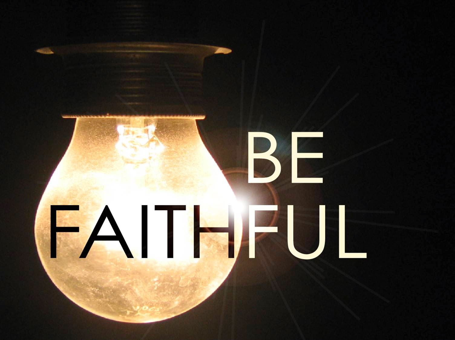Welcome to Frank's blog: To Be Faithful Is To Be ...