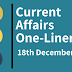 Current Affairs One-Liner: 18th December 2019