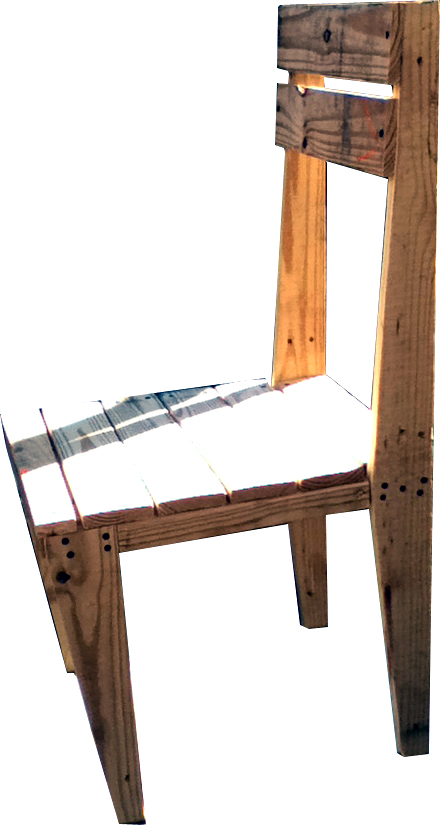 Upcycle Us: A chair made from a shipping pallet (4/4)