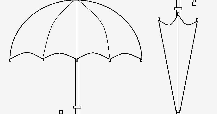 Arte No Paint: Desenho Para Colorir: Guarda-chuva