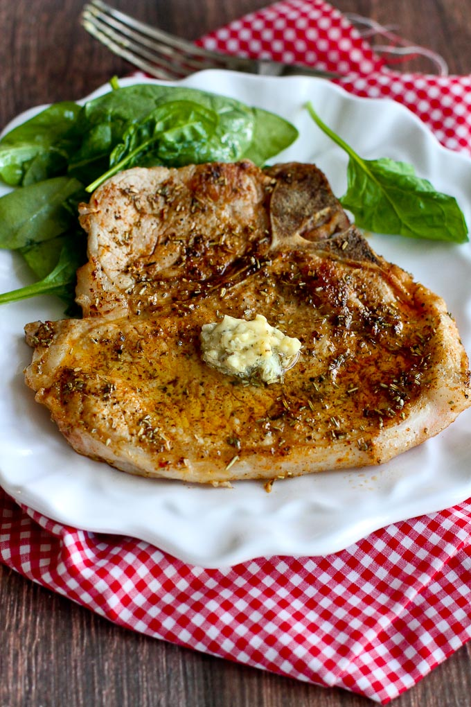 Herbed Pork Chops with Garlic Butter from Cookin' Canuck featured for ...