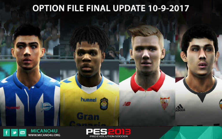 Option File Update Transfers Final 10 09 2017 Pes 2013