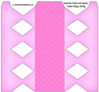 Cajas de Corazones Rosa para imprimir gratis.