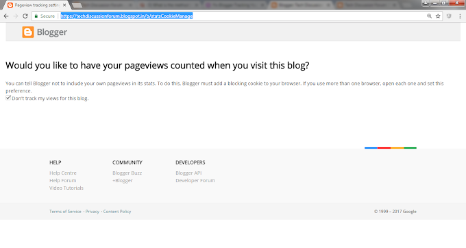 Don't track your own page views in Blogger