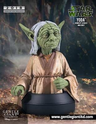 San Diego Comic-Con 2018 Exclusive Star Wars Yoda Ralph McQuarrie Concept Art Mini Bust by Gentle Giant