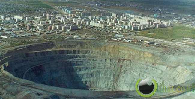Pertambangan permata mirny , Russia