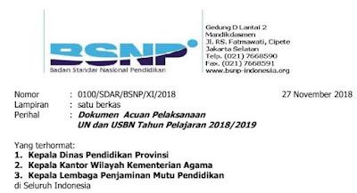 Download Dokumen Acuan Pelaksanaan UN dan USBN Tahun Pelajaran 2018/2019, http://www.librarypendidikan.com/