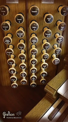 Swell and Great drawknobs - Allen Organ