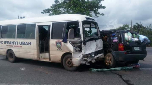 Bus Conveying Ifeanyi Uba Players Involved In An Accident, 6 Players Injured