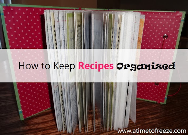 how to keep recipes organized