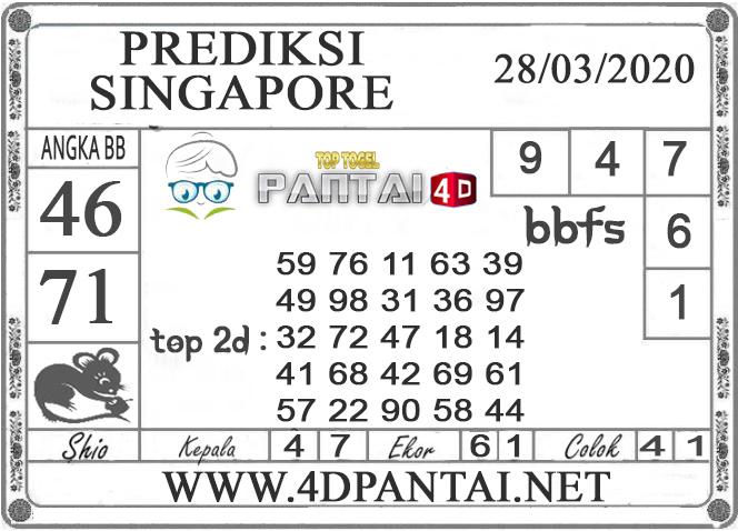 PREDIKSI TOGEL SINGAPORE PANTAI4D 28 MARET 2020