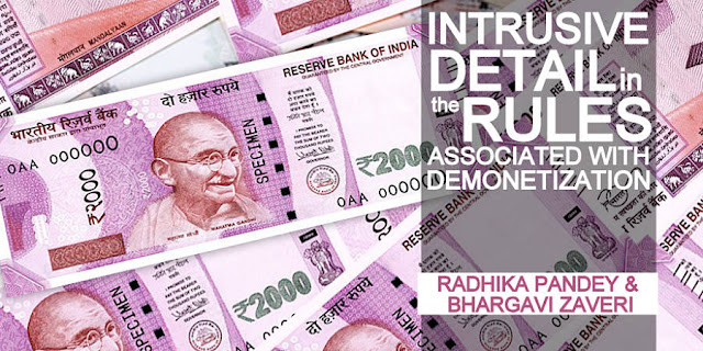 OPINION | Intrusive detail in the Rules Associated with Demonetization
