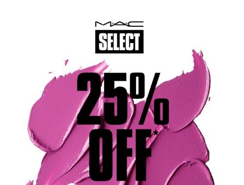 MAC 25% Off For Select Members