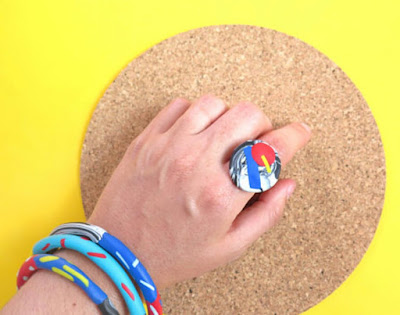 Baked By Lou Statement Ring Polymer Clay Fimo Jewellery