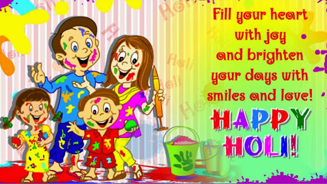Happy Holi Greetings, Wishes, Messages for Family