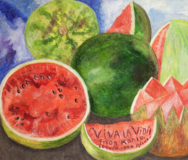 Frida kahlo, viva la vida, arte, mexico, muralismo mexicano, food and art