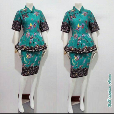 Desain Baju Batik untuk Kantor Wanita Elegan Modern Terbaru