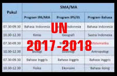 Jadwal Ujian Nasional Sma 2016 Bsnp Jadwal Penetapan Ujian Nasional Un Tahun 2017 2018 Sd Smp