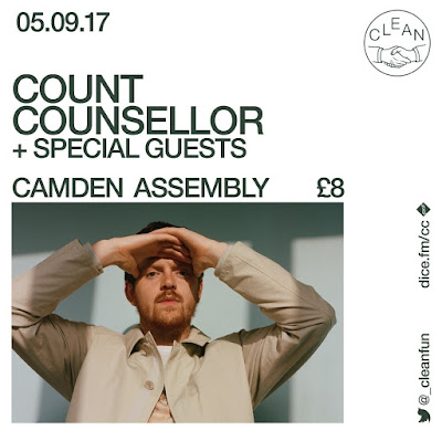 Count Counsellor announces September London headline show at Camden Assembly